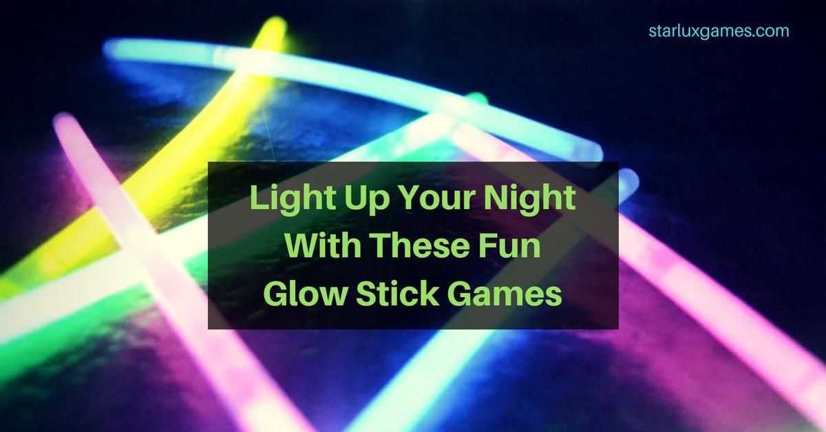 fun glow stick games