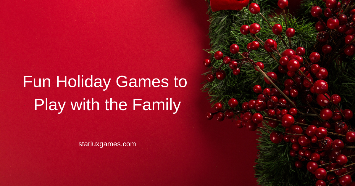 fun holiday games to play with the family