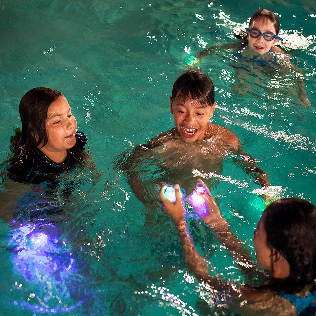 Kids playing Starlight Swimming