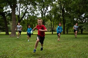 Kids playing Capture the Flag