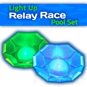 Relay race game pieces