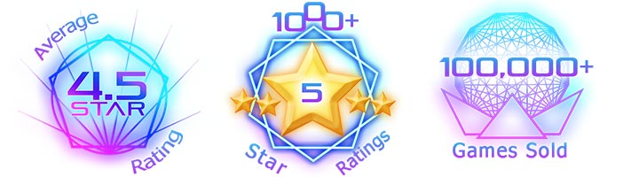 Starlux Games Awards 1000 5 star ratings, average 4.5 stars, 100,000+ games sold