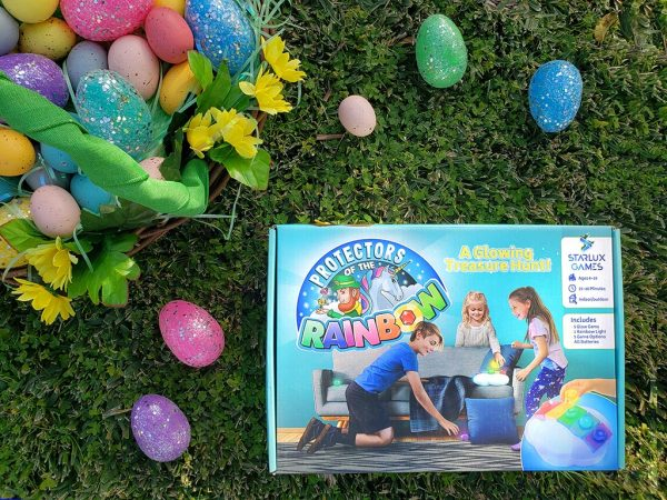 Protectors of the Rainbow Easter Promotional image with eggs